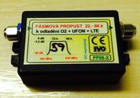 Pásmová propust UHF  IVO PP08, do 59.k