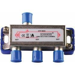 Inntec VT 8843 - TV i SAT rozbočovač průchozí pro napajení 3x F