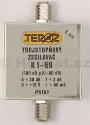 Zesilovač Teroz, 1-69, +30 dB F konektor