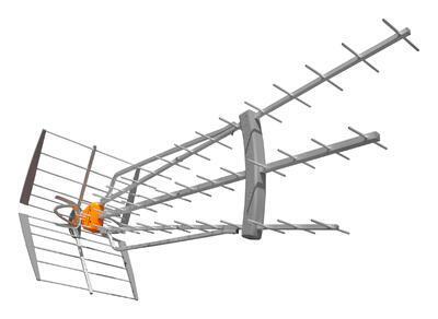 Televes DAT Boss LR antena, TFORCE, LTE  - 1