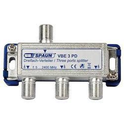 Spaun  VBE 3 PD - TV i SAT rozbočovač průchozí pro napajení  3x F