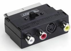Adaptér SCART  S-VHS/3x CINCH