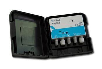 Alcad AM-183_ zesilovač 1 nebo 2 vstupy, FM/ BIII/ DAB - UHF, LTE 700