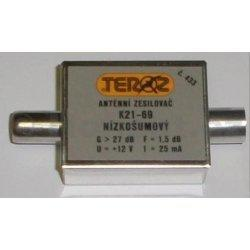 Zesilovač Teroz, 21-69, +27dB IEC konektory