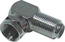 Konektor F - úhlový se používa např. u satelitních přijímačů, kde není možné dát na zadním