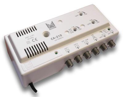 Alcad CA-310_ zesilovač, 3 vstupy UHF1-UHF2-BIII/ BI/ FM