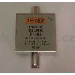 Zesilovač Teroz, 1-69, +20 dB 107dBuV IEC konektor