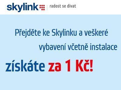 Skylink vybavení včetně instalace za 1Kč