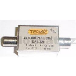 Zesilovač Teroz, 21-69, +14dB IEC konektory