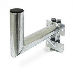 Držák antény 35cm s vinklem a vzpěrou, (na stožár 25-89mm), trubka 60/2mm, zinek ŽÁR - 1