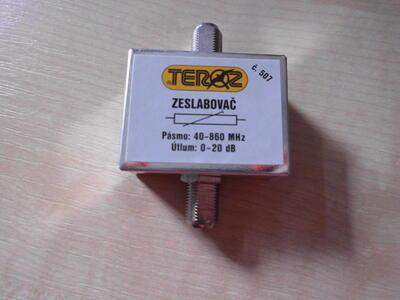Laditelný zeslabovač F konektory