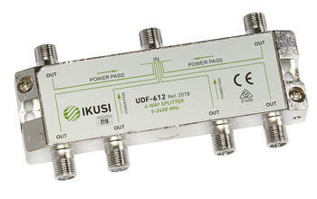 Ikusi - UDF-612_ rozbočovač, 6 výst. 11,8 dB, DC pass