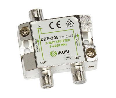 UDF-205_ rozbočovač, 2 výst. 3,6 dB, DC pass