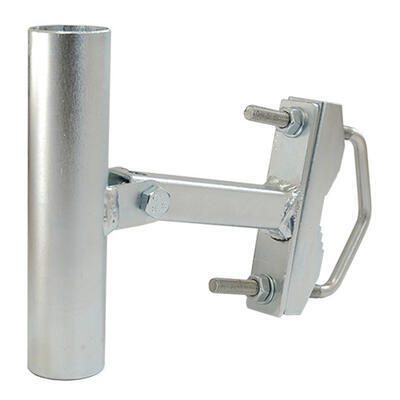 Držák antény jednoramený UNI V+H 15cm s pásem + třmen, trubka 35/2mm, zinek Galva - 1