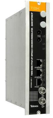 563852 IP streamer pro 2x HDMI(HDTV), HDMI/ IP - DVB-T/ C modulátor, T0X  - 1