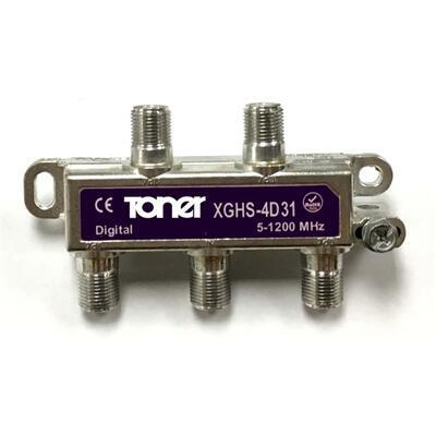 Toner XGHS-4D31 rozbočovač 1/4, 7.7 dB, DOCSIS 3.1