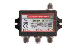 Aktivní rozbočovač pro DVB-T 3x výstup, +20dB F konektory