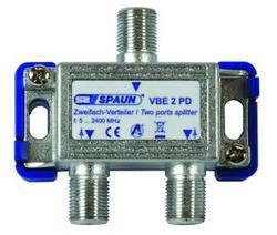 Spaun  VBE 2 PD - TV i SAT rozbočovač průchozí pro napajení  2x F