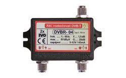 Aktivní rozbočovač pro DVB-T 2x výstup, +20dB F konektory