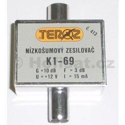Zesilovač Teroz, 1-69, +10 dB IEC konektor