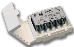 Alcad MM-407_ sluč. 4 vstupy FM/ BI - BIII - UHF - UHF, venkovní použití