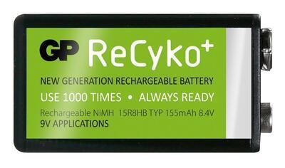 Nabíjecí baterie GP Recyko+ 155 mAh 9V