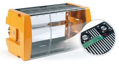 507202 Uzamykatelná plastová skříň s ventilátory pro 7 modulů a zdroj