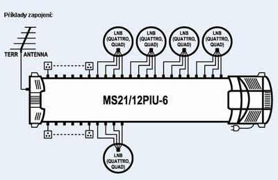 Multipřepínač MS21/12PIU-6 - 2