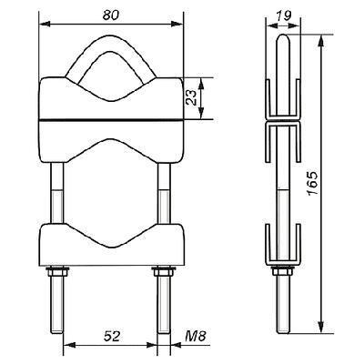 Třmen dvojitá spojka OZP-50 - 2