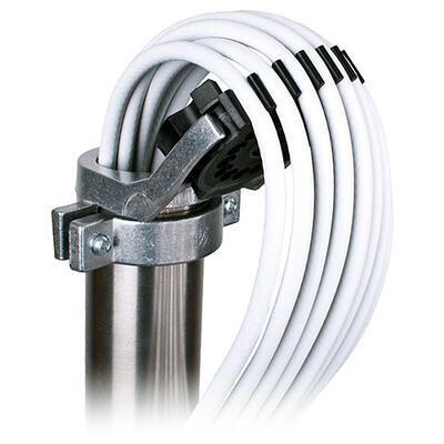 Stožárová krytka na kabely - hliníková (stožáry 42,48 - 52mm) - 4